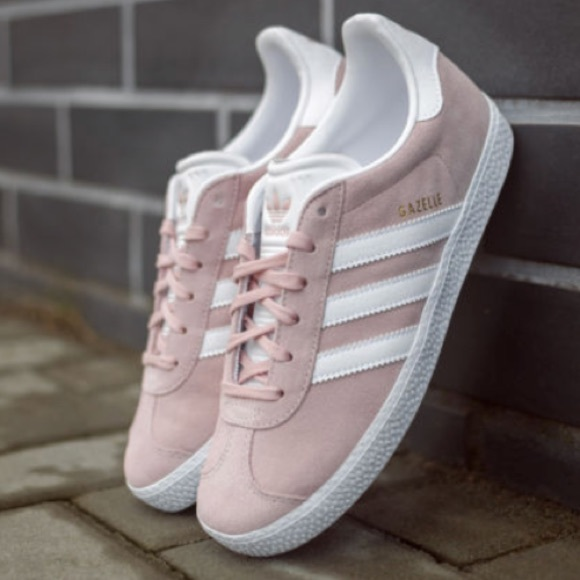 Girls Adidas Gazelle pink sneakers size 5.5